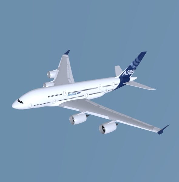 Airbus A380 giant aircraft - 3DOcean Item for Sale