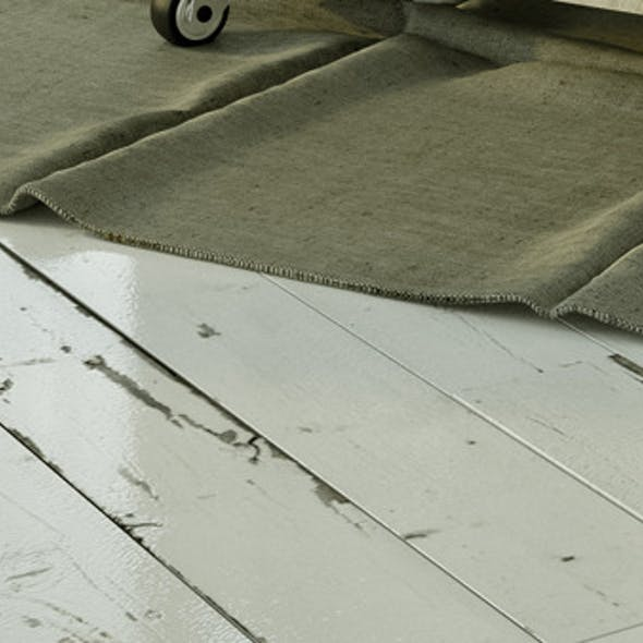White painted vintage wood floor