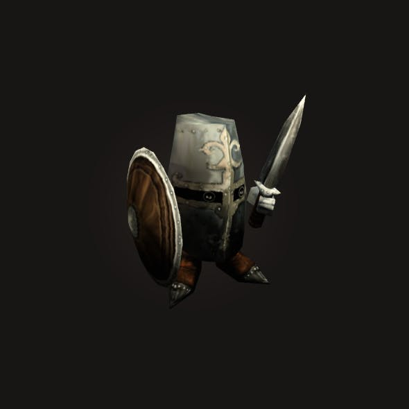 mini Knight Low Poly Animated  - 3DOcean Item for Sale