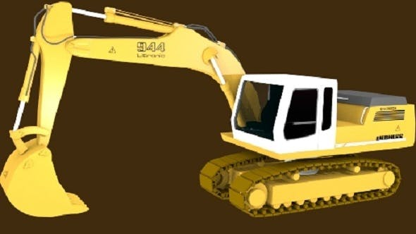 Crawler Excavator - 3DOcean Item for Sale