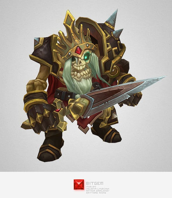 Low Poly Skeleton King - 3DOcean Item for Sale