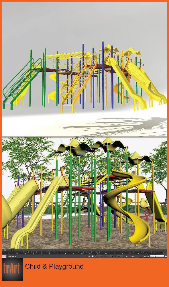 Child Park Area - 3DOcean Item for Sale