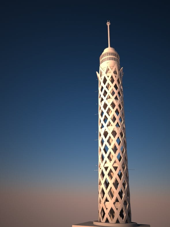 Cairo Tower in Egypt - 3DOcean Item for Sale