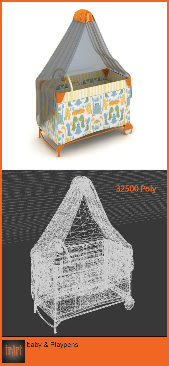 Baby Playpens - 3DOcean Item for Sale