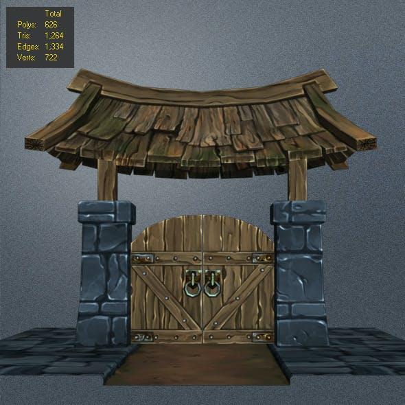 Low Poly wood Door_2