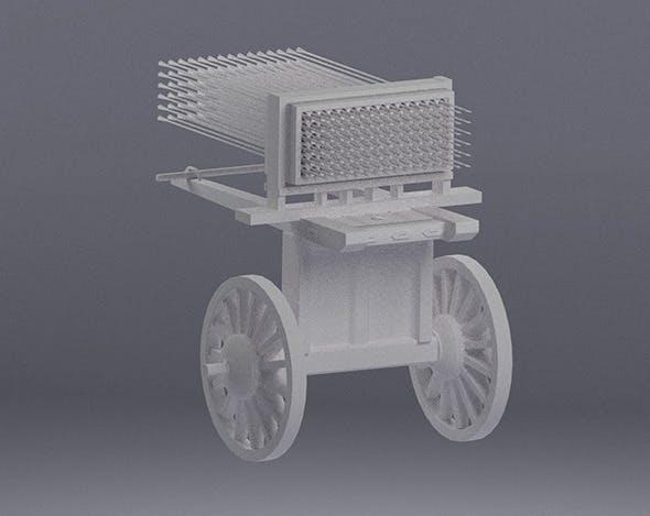 Medieval Missile Launcher - 3DOcean Item for Sale