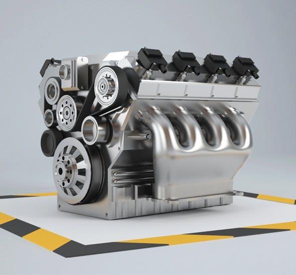 Car Engine 8 cylinders - 3DOcean Item for Sale