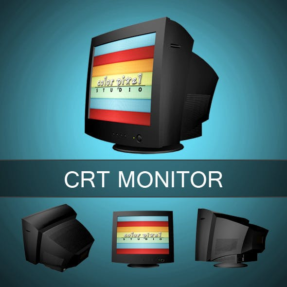 CRT Monitor - 3DOcean Item for Sale
