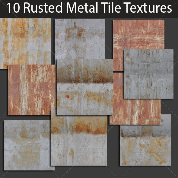 10 Rusted Metal Tile Textures Collection