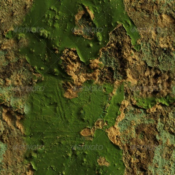 Green Wall With Mold - 3DOcean Item for Sale