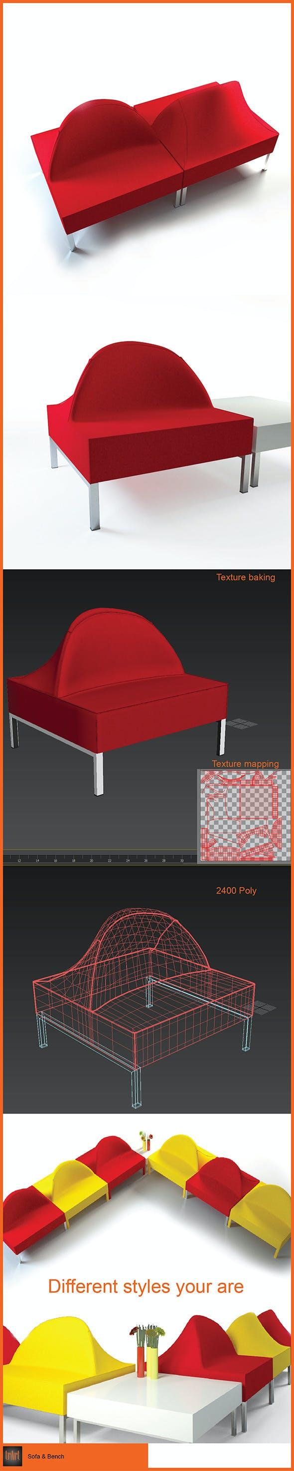 Sofa Bench - 3DOcean Item for Sale