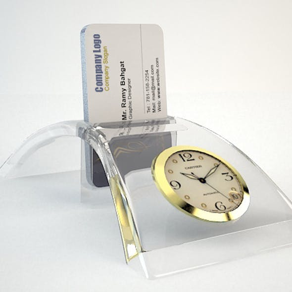 Crystal Office Card Pocket