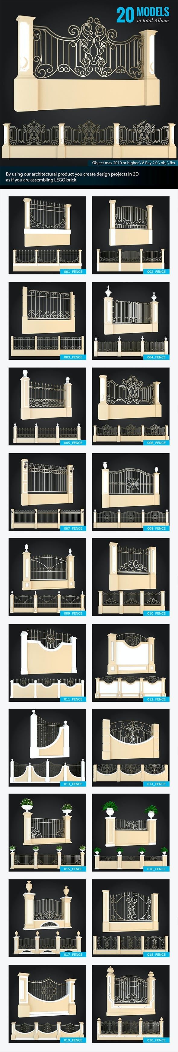 Fences Collection - 3DOcean Item for Sale