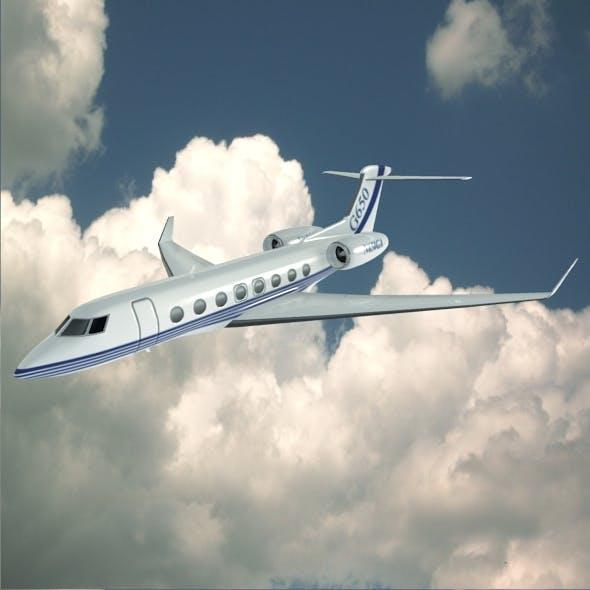 Gulfstream G650 N650 GA lowpoly business jet - 3DOcean Item for Sale