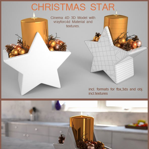Christmas Candle Star