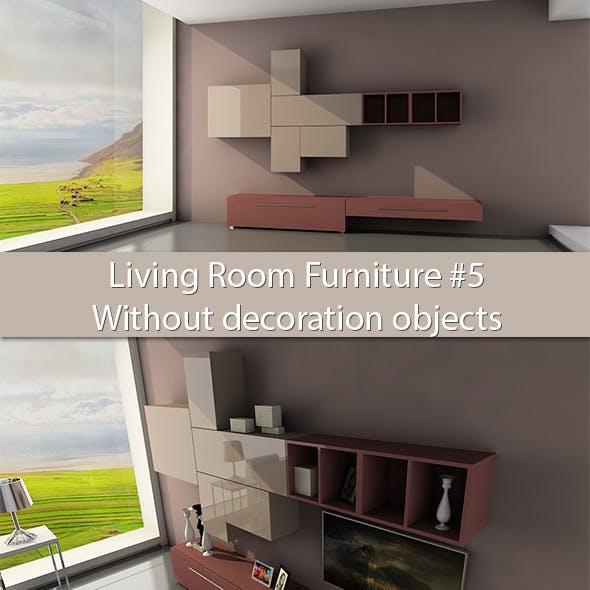 Living Room Furniture #5 (Without deco objects) - 3DOcean Item for Sale