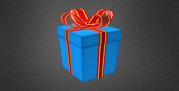 Low Poly Gift Box - 3DOcean Item for Sale