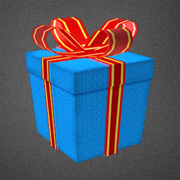 Low Poly Gift Box