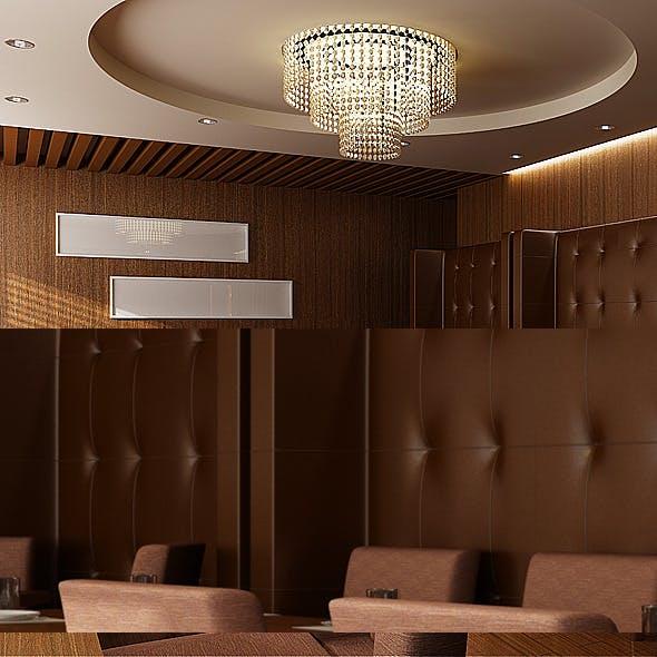 Realistic Restaurant Interior 3D model