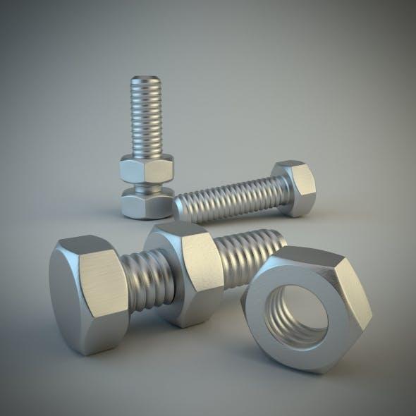 Nut & Bolt - 3DOcean Item for Sale