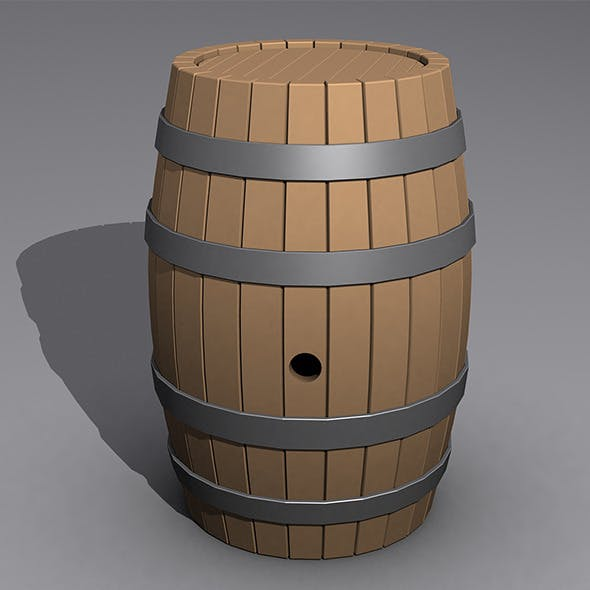 Realistic Barrel  - 3DOcean Item for Sale
