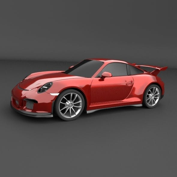 Porsche Carrera 911 GT3 sports car restyled