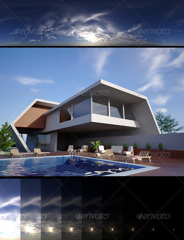 Realsky HDRI Blue Cloudy 1535 - 3DOcean Item for Sale
