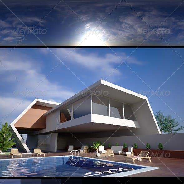 Realsky HDRI Blue Cloudy 1515