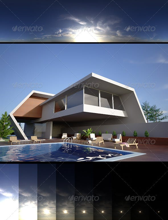 Realsky HDRI Blue Cloudy 1550 - 3DOcean Item for Sale