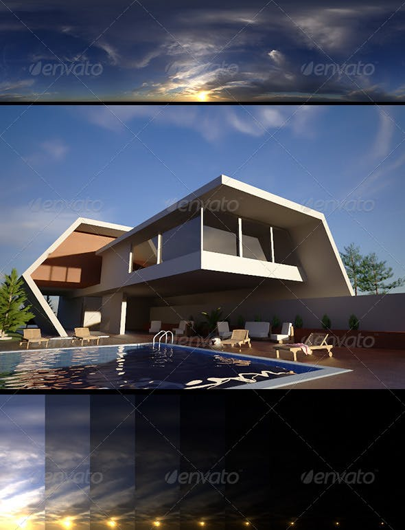 Realsky HDRI Sunset 1640 - 3DOcean Item for Sale