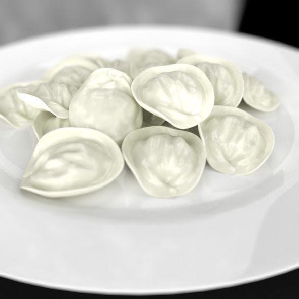 Pelmeni, Ravioli, Dumplings Plate