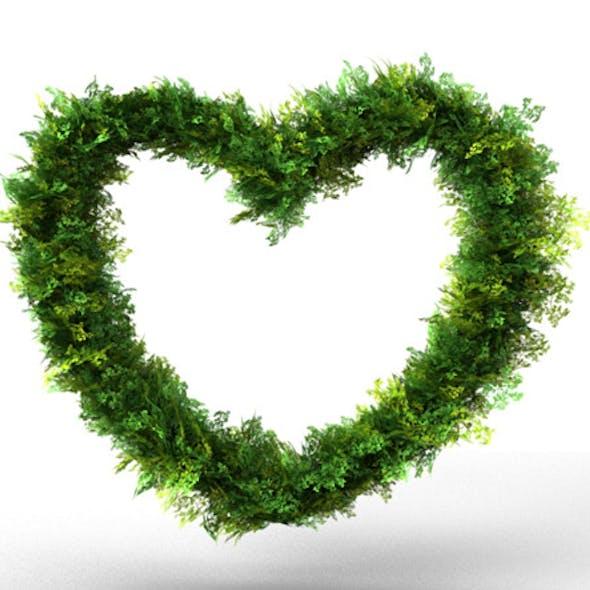 Heart Bush Decoration