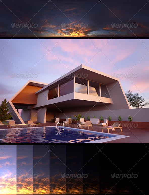 Realsky HDRI Sunset 1710 - 3DOcean Item for Sale