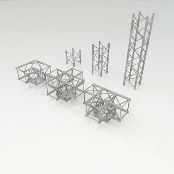 Truss Construction set - 3DOcean Item for Sale