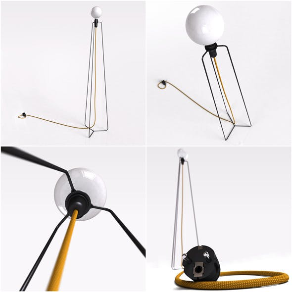 Floor Lamp MODEL3  - 3DOcean Item for Sale