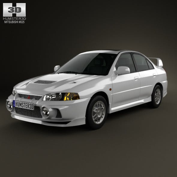 Mitsubishi Lancer Evolution 1997 - 3DOcean Item for Sale