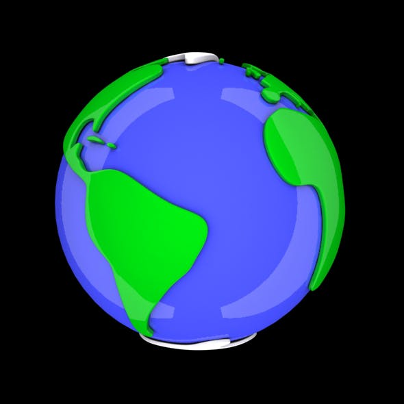 Cartoon Earth - 3DOcean Item for Sale