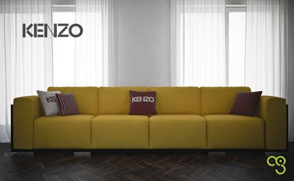 Sofa Place Vendome by Kenzo Maison - 3DOcean Item for Sale