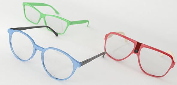 Three Pairs of Glasses - 3DOcean Item for Sale