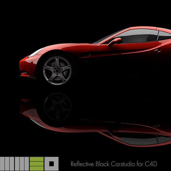 MW3D Black Car Studio Rendersetup C4D R15 AR