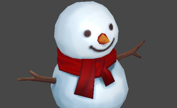 Lowpoly Snow Man - 3DOcean Item for Sale