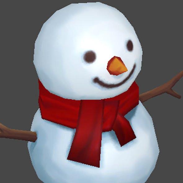Lowpoly Snow Man