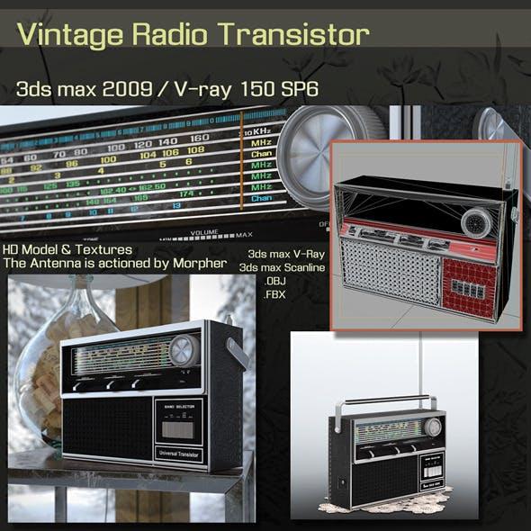 Vintage Radio Transistor - 3DOcean Item for Sale