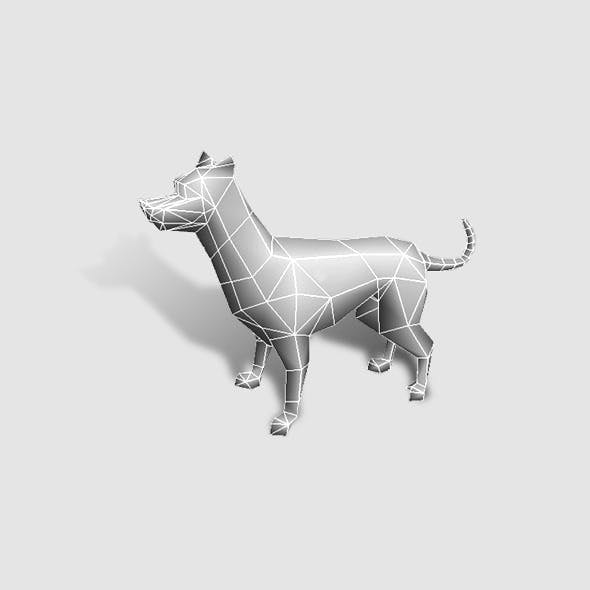 Dog Low Poly - 3DOcean Item for Sale