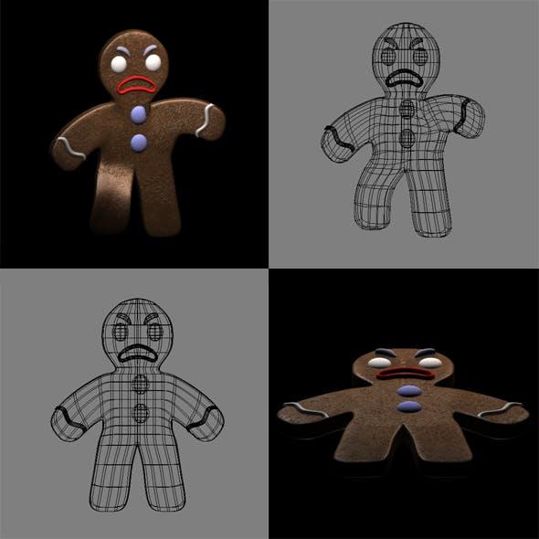Gingerbread Man - 3DOcean Item for Sale