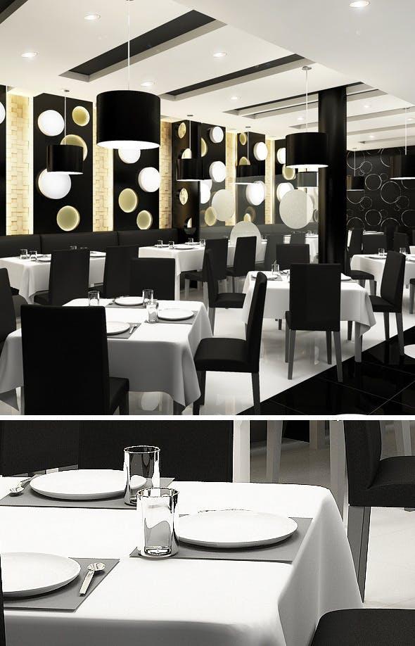 Realistic Modern Restaurant - 3DOcean Item for Sale
