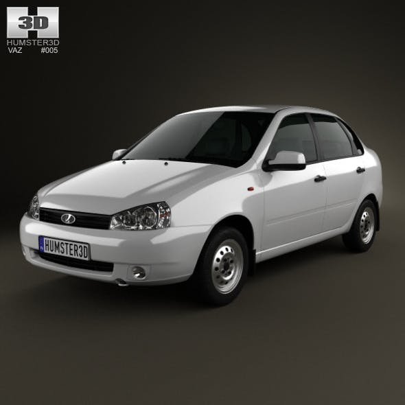 Lada Kalina (1118) sedan 2011 - 3DOcean Item for Sale