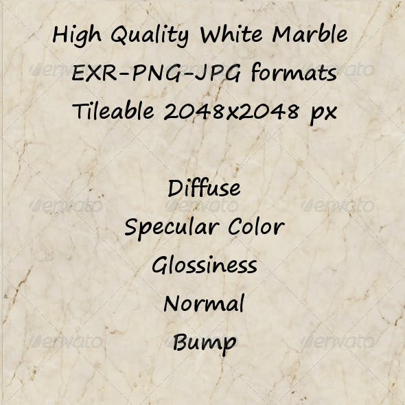 Tileable White Marble