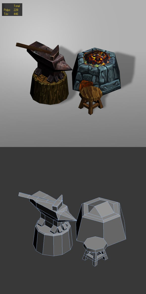 smithy low poly - 3DOcean Item for Sale