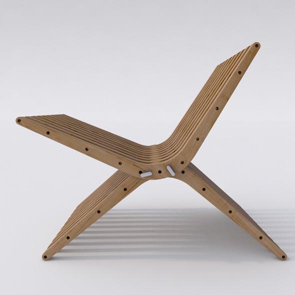 Wooden Lounge Chair BOOMERANG